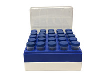 CutieCubby™ - Polycarbonate freezer box for 5mL tubes, holds 25 tubes, 5/PK
