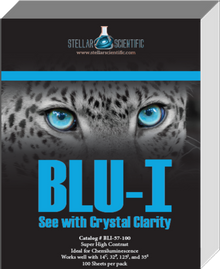 Blu-I Autoradiography Film 5 x 7, 100 Sheets per box