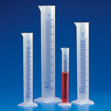 Graduated Cylinder, Polypropylene, Printed Graduations, 2000mL 2/PK