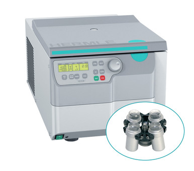 Hermle Benchtop Refrigerated Centrifuge Cell Culture Bundle with Swing-out Rotor and Buckets to hold 6 x 15mL and 4 x 50mL tubes