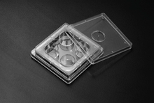 Stellar Scientific polystyrene 4-well tissue culture treated multi-well plates for IVF applications in treatments related to obstetrics and gynecology and specific cell culture research, such as human embryonic cell culture.