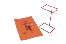 Epoxy coated steel-wire biohazard/autoclave bag holder for the benchtop, 1/EA