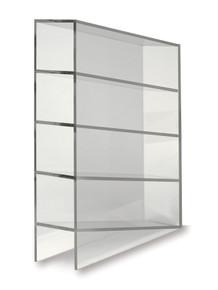 Acrylic heavy-duty four-place pipette storage rack, 1/EA