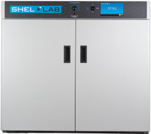 Shel Lab SMI11 (SLM1122) Double Door General Purpose Lab Incubator with touch screen and data logging. Shown with doors closed