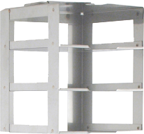 Vertical Lab Freezer Rack for Three 2 Inch Freezer Boxes