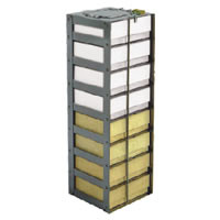 "Vertical Rack for Chest Freezer 2"" Boxes capacity 13 boxes 28 9/16 x 5 5/8 x 5 1/2, 1/EA"