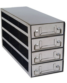 Stainless Steel Lab Freezer Drawer Rack for 2 inch Cryo Boxes