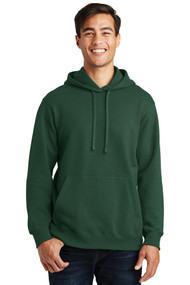 Hooded Sweatshirt - Forest Green - Adult with Full Front Screenprinted Logo