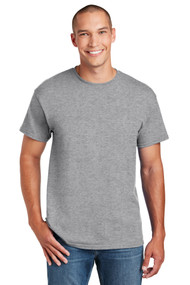 Short Sleeve T-Shirt - Sports Grey - Adult with Full Front Screenprinted Logo