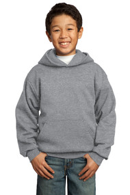 Hooded Sweatshirt - Athletic Heather - Youth with Full Front Screenprinted Logo