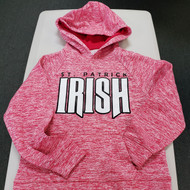 Youth Moisture Wicking Hooded Pullover Pink
