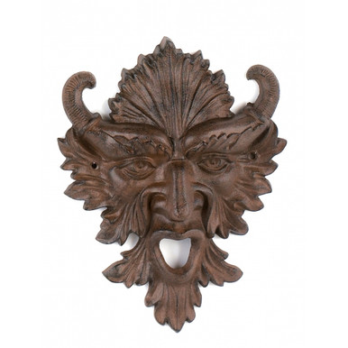 Gargoyle green man plaque ~ Horn god