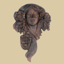 Flower goddess garden plaque