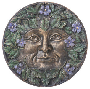 Spring Green Man plaque