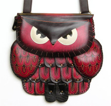 Owl bag ~ red