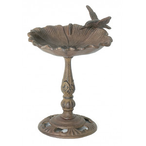 Poppy Flower table top birdbath