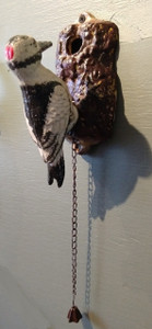Woodpecker Door Knocker ~ hand painted cast iron