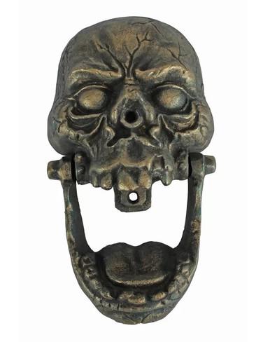 Cast iron Skull Door Knocker ~ antiqued bronze