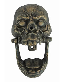 Cast iron Skull Door Knocker ~ antiqued bronze