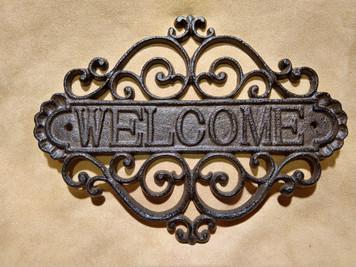 Filigree Welcome Plaque