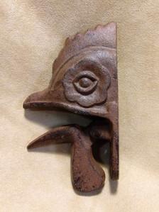 Rooster beak doorknocker