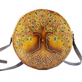 round Tree of Life purse