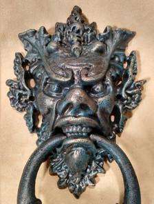 Gargoyle doorknocker close