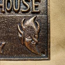 Jersey Devil plaque detail
