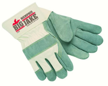 """1700 BIG JAKE Leather Palm Sewn With KEVLAR, Full Featured Gunn, 2.75"""" Safety Cuff"""
