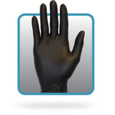 Powder Free Black Nitrile Gloves