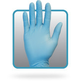 Powder Free Blue Nitrile Gloves 8 mil