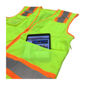 ANSI Class 2 Two-Tone Ten Pocket Surveyors Tech Vest