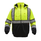 GSS Safety 7511 Onyx Series Hooded Full-Zip Sweatshirt