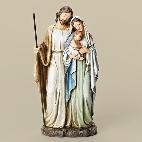 """HOLY FAMILY FIGURE - SOFT GRAYED COLORS (12"""")"""