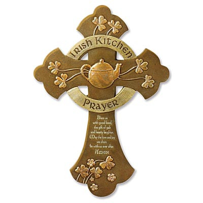 """Irish Kitchen Prayer"" Cross"