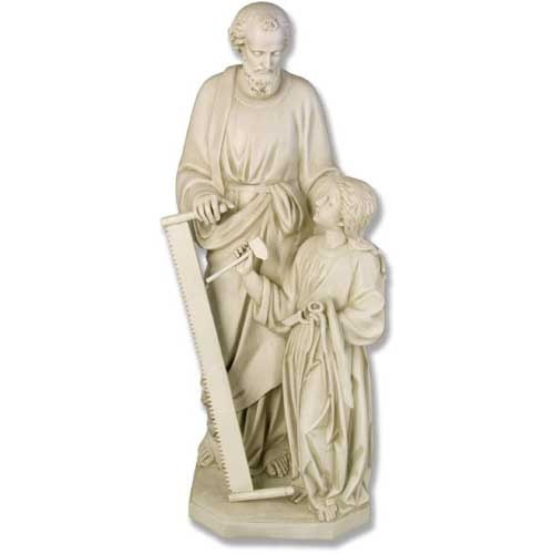 "Joseph & Child with Tools 55""H - Fiberglass"
