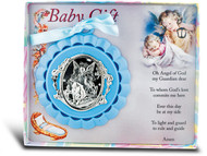 Blue Guardian Angel Crib Medal