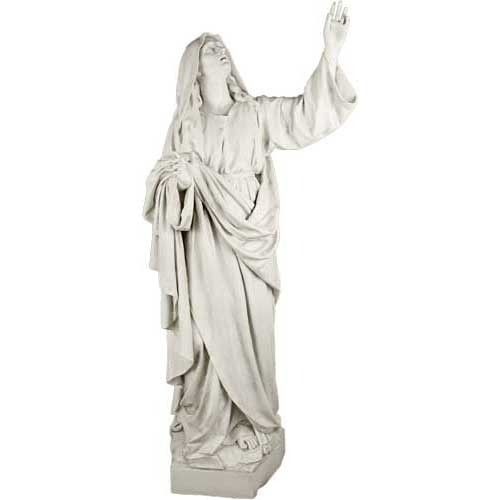 """Mary at the Crucifixion Statue 67""""H - fiberglass"""