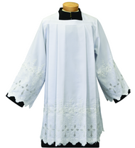 Tailored Priest Embroidered Sheer Nylon Surplice.
