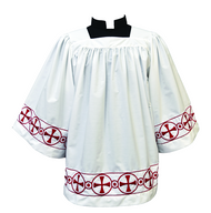 Surplice With Circle in Cross Banding 376