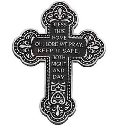 """""""Bless This Home"""" Wall Cross"""