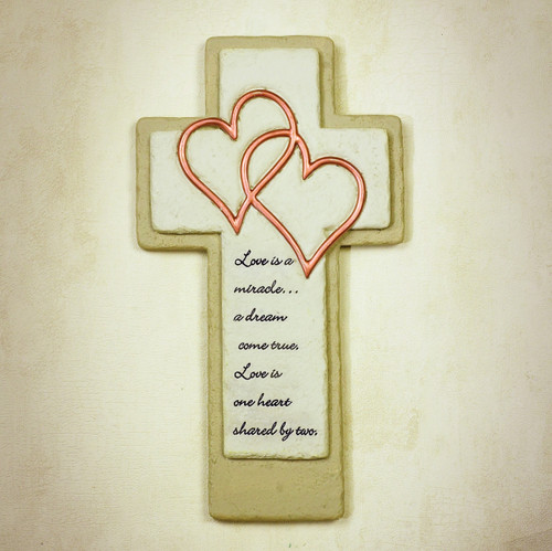 """Love is a Miracle"" Wall Cross"