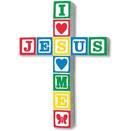 Jesus Loves Me Wall Cross