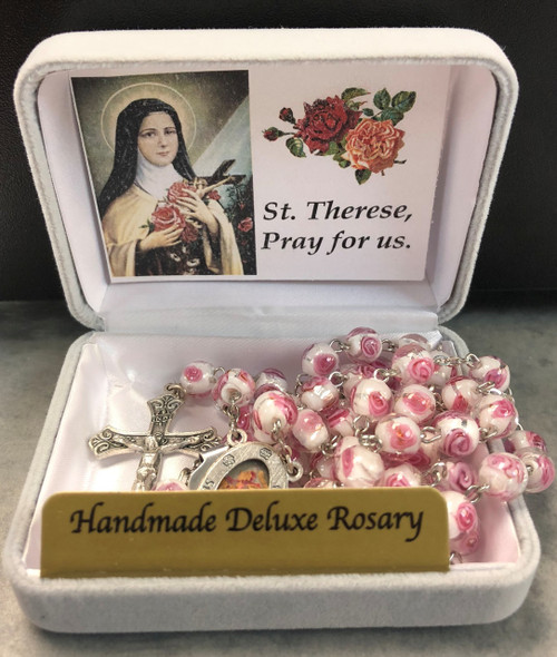 St. Therese Exclusive Handmade Deluxe Rosary