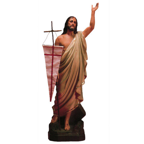 "Resurrection Christ 48"" H (flag not included)"