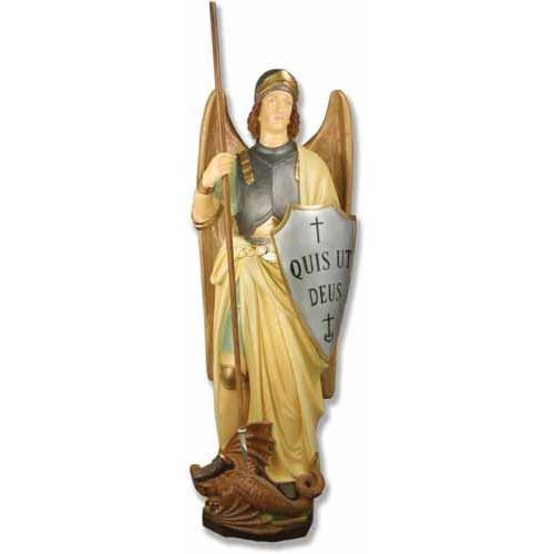 "Saint Michael with Shield 55""H"