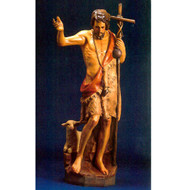 """St. John the Baptist with Staff & Sheep 60""""H"""