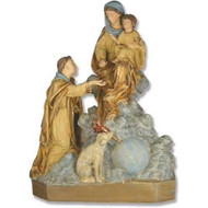 "St. Dominic, Mother, Child & Dog 36""H"
