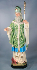 "St. Patrick with Staff 72""H"