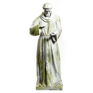 "St. Francis of Assissi 56""H - Fiber Stone"